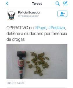 policia marihuana ecuador operativo Twitter